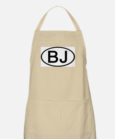 BJ - Initial Oval BBQ Apron