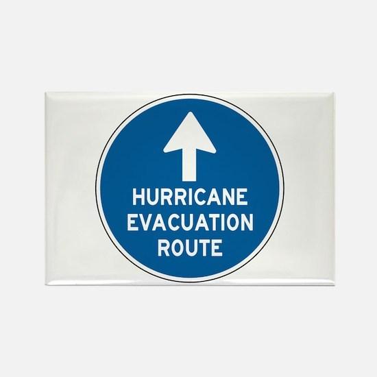 Hurricane Evacuation Route Rectangle Magnet