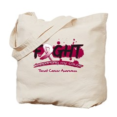 Fight Throat Cancer Cause Tote Bag
