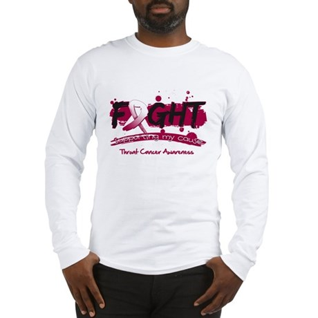 Fight Throat Cancer Cause Long Sleeve T-Shirt