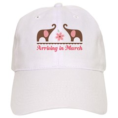 March Pregnancy Due Date Baseball Cap