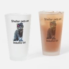 Shelter Pets Drinking Glass
