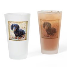 Puppy Love Doxie Drinking Glass