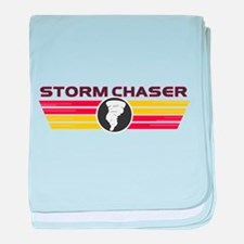 Storm Chasers Logo Bar baby blanket