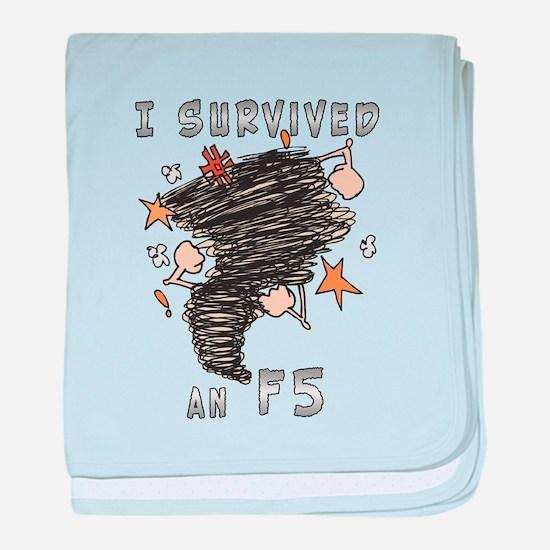 Survived F5 baby blanket