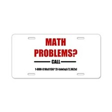 Math Problems Aluminum License Plate