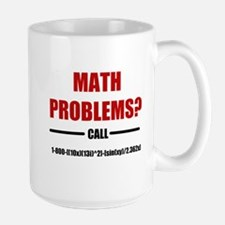 Math Problems Large Mug