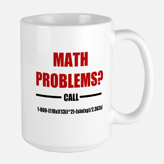 Math Problems Large Mug