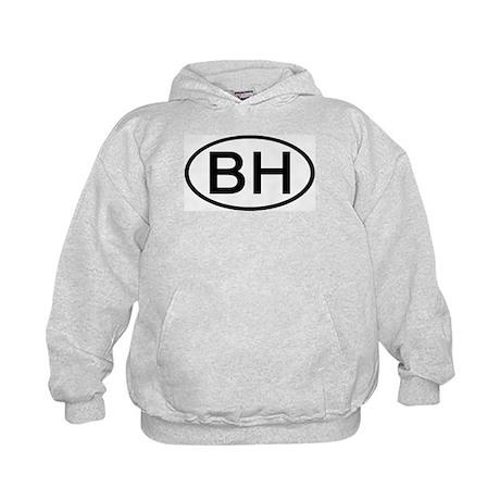 BH - Initial Oval Kids Hoodie