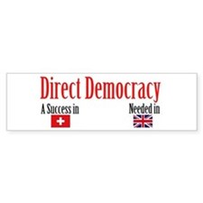 Direct Democracy Bumper Bumper Sticker