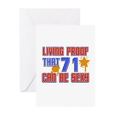Cool 71 year old birthday design Greeting Card