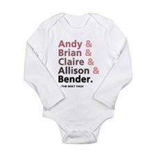 'Breakfast Club Characters' Long Sleeve Infant Bod