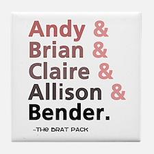 'Breakfast Club Characters' Tile Coaster