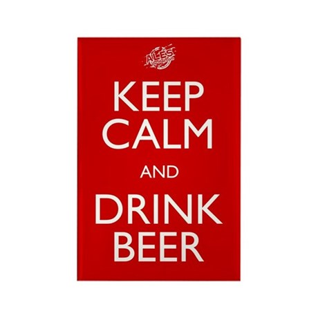 Keep Calm Drink Beer Rectangle Magnet