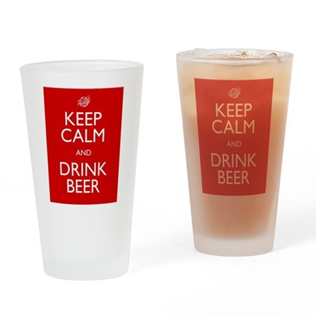 Keep Calm Drinking Glass