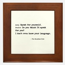 'Breakfast Club Quote' Framed Tile
