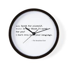 'Breakfast Club Quote' Wall Clock