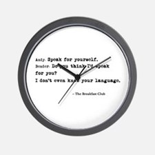 'Breakfast Club Quote' Wall Clock