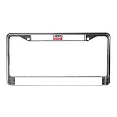 Hurricane Irene License Plate Frame
