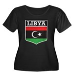 Libya Women's Plus Size Scoop Neck Dark T-Shirt