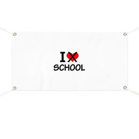 I hate school Banner