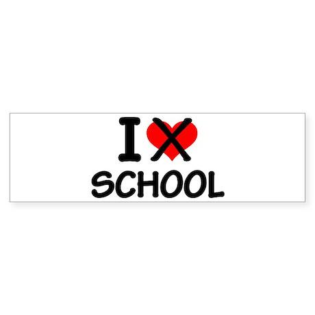 I hate school Sticker (Bumper)