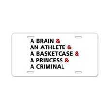 'The Breakfast Club' Aluminum License Plate