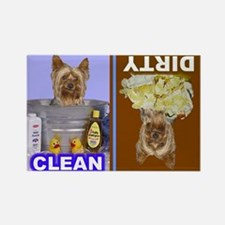 Cute Yorkshire terrier Rectangle Magnet (100 pack)