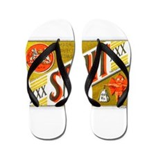 Chile Beer Label 3 Flip Flops