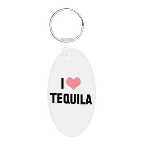 I heart Tequila Aluminum Oval Keychain