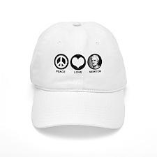 Peace Love Newton Baseball Cap