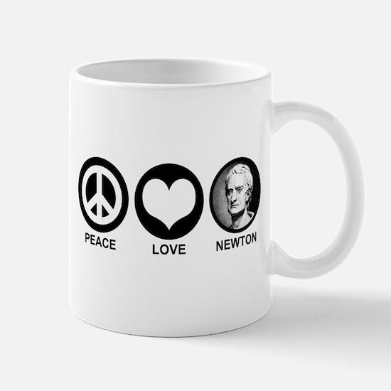 Peace Love Newton Mug