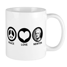 Peace Love Newton Mug