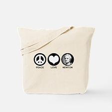 Peace Love Newton Tote Bag