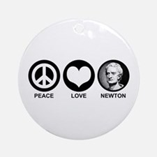Peace Love Newton Ornament (Round)