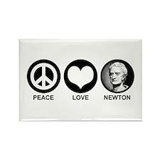 Peace Love Newton Rectangle Magnet