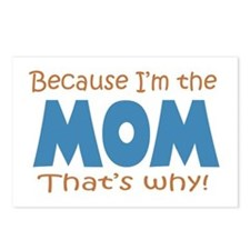 Because I'm the Mom Postcards (Package of 8)
