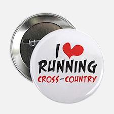 "I heart (love) running CC 2.25"" Button"