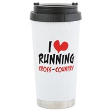 I Heart Running Cc Travel Mug