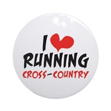 I heart (love) running CC Ornament (Round)