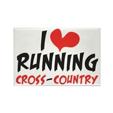 I heart (love) running CC Rectangle Magnet