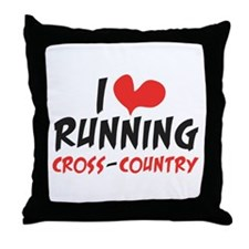 I heart (love) running CC Throw Pillow