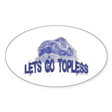 Let's Go Topless, Jeep Oval Decal