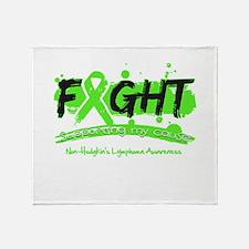 Fight Non-Hodgkin's Lymphoma Throw Blanket