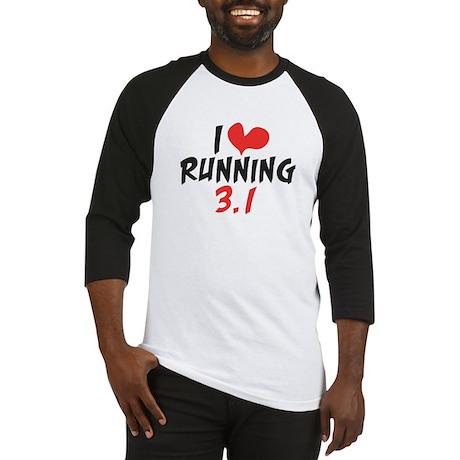 I heart running 3.1 Baseball Jersey