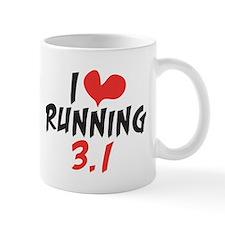 I heart running 3.1 Mug