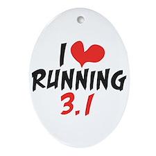 I heart running 3.1 Ornament (Oval)