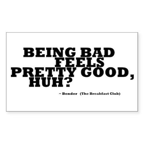 'Breakfast Club Quote' Sticker (Rectangle)