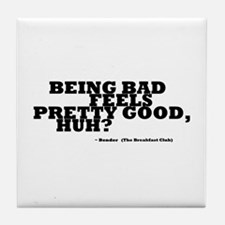'Breakfast Club Quote' Tile Coaster