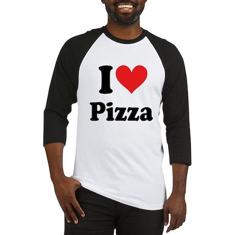 I Heart Pizza: Baseball Jersey